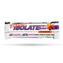 Батончики IronMan Isolate Bar без сахара 50 г, 24 шт, хрустящий ирис/темная глазурь