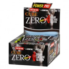 Power Pro Батончики Cube ZERO 50 г, 20 шт, вкус: дюшес