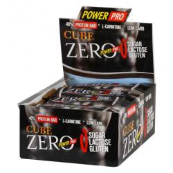 Power Pro Батончики Cube ZERO 50 г, 20 шт, вкус: крем-шоколад