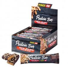 Батончики Protein Bar 20% с арахисом, без сахара 40 г, 20 шт, молочный шоколад