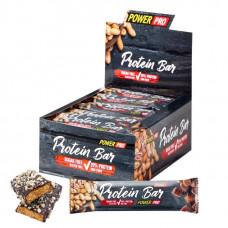 Power Pro Батончики Protein Bar 20% с арахисом, без сахара 40 г, 20 шт, вкус: ирис