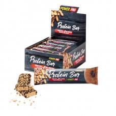 Power Pro Батончики Protein Bar 20% с арахисом, без сахара 40 г, 20 шт, вкус: тирамису