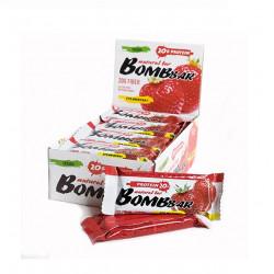 BOMBBAR Bombbar Протеиновые батончики Bombbar, 20 шт, вкус: клубника