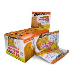 BOMBBAR Protein Cookie низкокалорийные 40 г, 12 шт, вкус: апельсин-имбирь