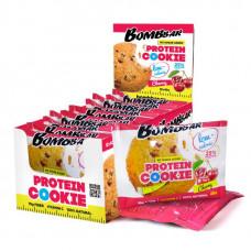 BOMBBAR Protein Cookie низкокалорийные 40 г, 12 шт, вкус: вишня