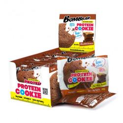 BOMBBAR Protein Cookie низкокалорийные 40 г, 12 шт, вкус: шоколадный брауни