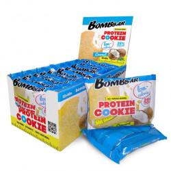 BOMBBAR Protein Cookie низкокалорийные 40 г, 12 шт, вкус: кокос