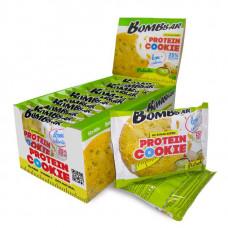 BOMBBAR Protein Cookie низкокалорийные 40 г, 12 шт, вкус: фисташка