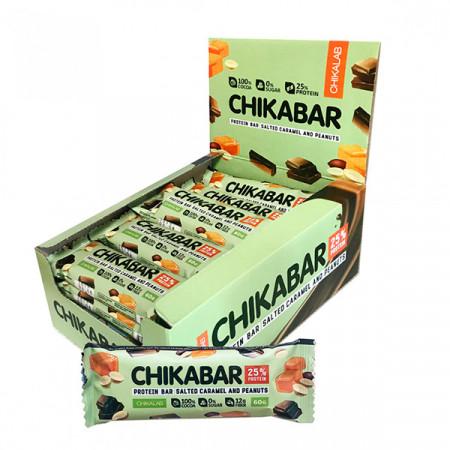 BOMBBAR Батончики Chikabar 60 г, 20 шт, вкус: арахис-карамель