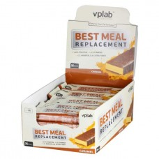 vplab Батончики Best Meal Replacement 60 г, 25 шт, вкус: карамель