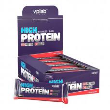vplab Батончики High Protein Fitness Bar 100 г, 15 шт, вкус: клубника