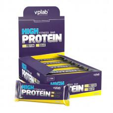 vplab Батончики High Protein Fitness Bar 100 г, 15 шт, вкус: банан