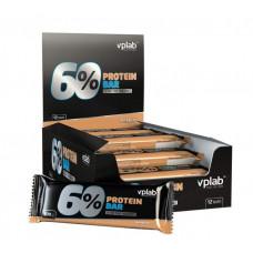 vplab Батончики 60% Protein Bar 100 г, 12 шт, вкус: арахис