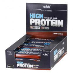 vplab High Protein Fitness Bar 50 г, 20 шт, вкус: шоколад-ваниль