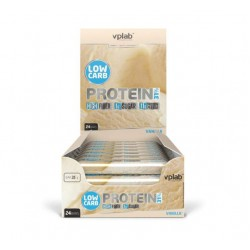 vplab Батончики Low Carb Protein Bar 35 г, 24 шт, вкус: ваниль