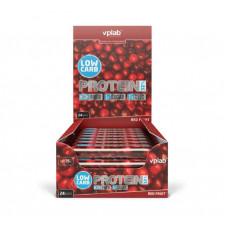 vplab Батончики Low Carb Protein Bar 35 г, 24 шт, вкус: красная ягода