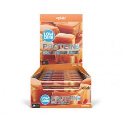 vplab Батончики Low Carb Protein Bar 35 г, 24 шт, вкус: карамель