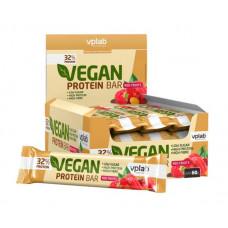 vplab Батончики Vegan Protein Bar 60 г, 12 шт, вкус: красный фрукт