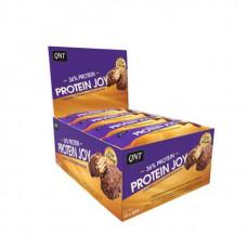 QNT Батончики Protein Joy 60 г, 12 шт, вкус: карамельное печенье