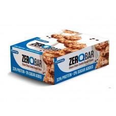 Quamtrax Nutrition Батончики Zero Q-Bar 60 г, 12 шт, вкус: печенье с шоколадом