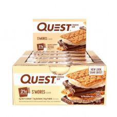 Протеиновые батончики Quest Bar, 12 шт, сморз - печенье с зефиром и шоколадом