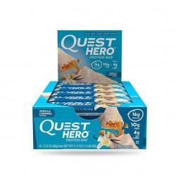 Quest Nutrition Батончики Quest Hero Bar 60 г, 10 шт, вкус: ваниль-карамель
