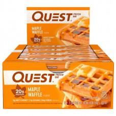 Протеиновые батончики Quest Bar, 12 шт, вафли с кленовым сиропом