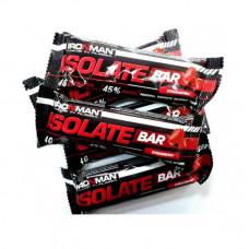 IronMan Батончик Isolate Bar 50 г, 24 шт, вкус: клубника-темная глазурь