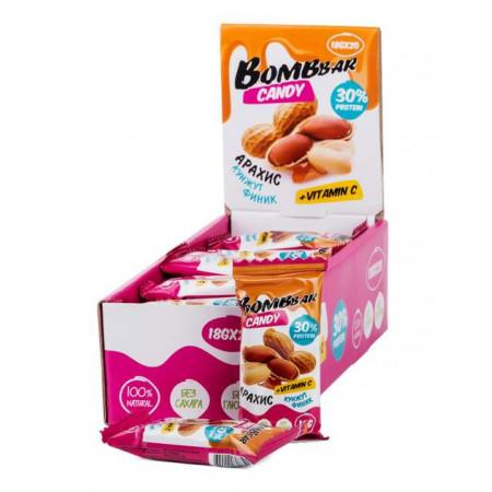 BOMBBAR Конфеты Bombbar Candy 18 г, 20 шт, вкус: арахис, кунжут, финик