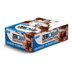 Quamtrax Nutrition Батончики Zero Q-Bar 60 г, 12 шт, вкус: с шоколадными кусочками