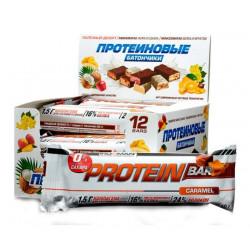 IronMan Батончики Protein Bar без сахара 50 г, 12 шт, вкус: карамель-темная глазурь