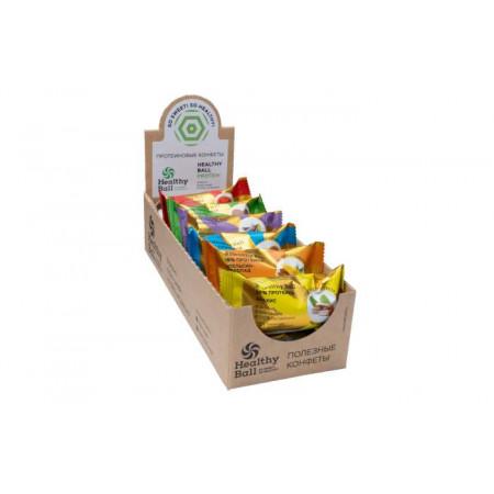 Jump Конфеты орехово-фруктовые Jump Premium Protein 28 г, 12 шт, вкус: ассорти
