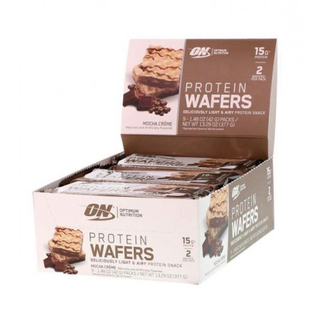 Optimum Nutrition Вафли Protein Wafers 40 г, 9 шт, вкус: мокко-крем