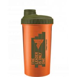Trec Nutrition Шейкер Leader Is Only One, 700 мл, цвет: оранжевый-оливковый