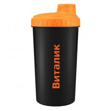 5lb Шейкер Name, 700 мл, цвет: черный оранжевая крышка Виталик