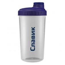 5lb Шейкер Name, 700 мл, цвет: прозрачный-крышка фиолет. Славик