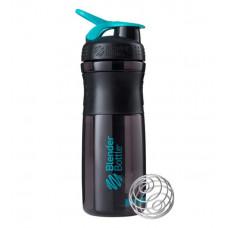 Blenderbottle Шейкер BlenderBottle SportMixer, 828 мл, цвет: черный/морской голубой