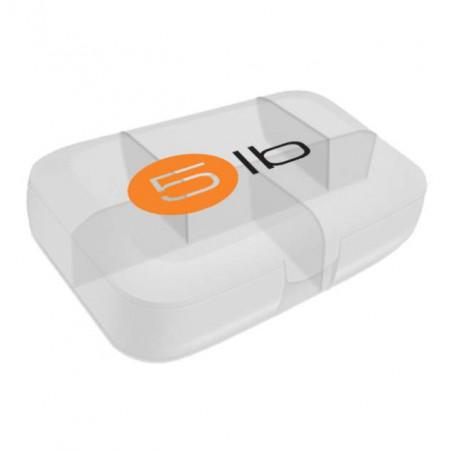 5lb Таблетница, 1 шт, цвет: белая с оранжевым логотипом
