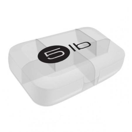 5lb Таблетница, 1 шт, цвет: белая с черным логотипом