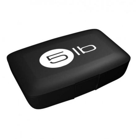 5lb Таблетница, 1 шт, цвет: черная с белым логотипом