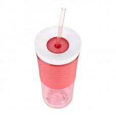 Шейкер для коктейлей Shake & Go розовый, 0.53 л