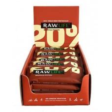 R.A.W. Life Протеиновые батончики 50 г., 20 шт., Шоколад-протеин