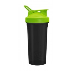 Be First Шейкер прозрачный без логотипа - Черно-зеленый, 600 мл, 11356-Green-NL