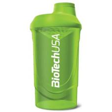 BioTech USA Shaker Wave - Зеленый, 600 мл