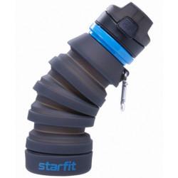 Starfit Бутылка для воды FB-100, с карабином, складная, серая