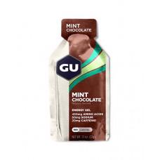 Энергетический гель GU Energy Gel с кофеином, 32 г, шоколад-мята