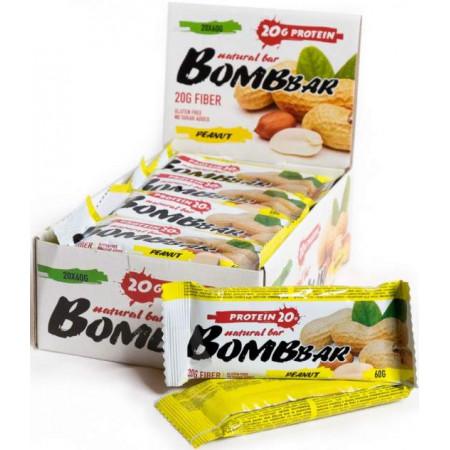Протеиновый батончик Bombbar Bombbar Box - 20 шт., Арахис