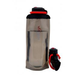 Складная эко бутылка VITDAM, черная, объем 700 мл - артикул B070BKS