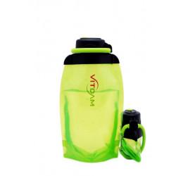 Складная эко бутылка VITDAM, желто-зеленая, объем 500 мл - артикул B050YGS