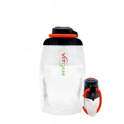 Складная эко бутылка VITDAM, прозрачная, объем 500 мл - артикул B050TRS